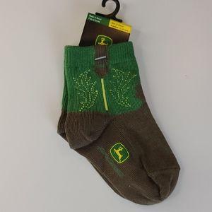 John Deere baby socks 12-24 months
